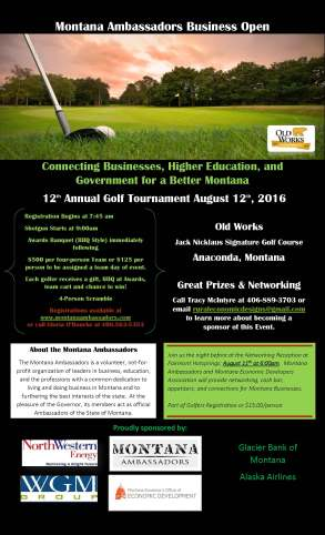 golf tournament flyer-with sponsors